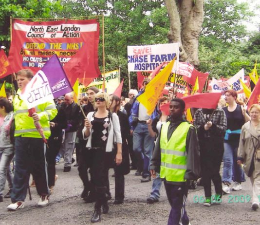 The North East London Council of Action has been conducting a massive campaign to occupy Chase Farm Hospital to stop its closure