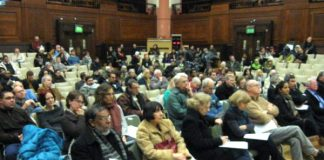 The audience at the London conference on Gaza last Wednesday