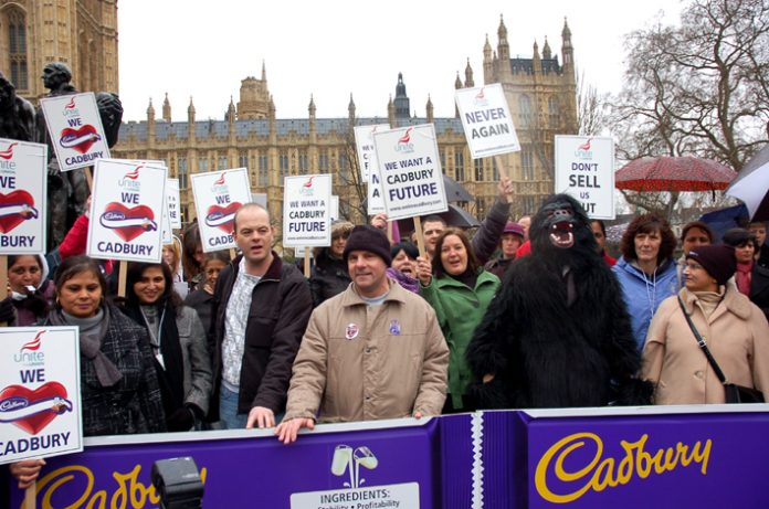 Cadbury workers lobbying Parliament, are prepared to occupy to defend their jobs