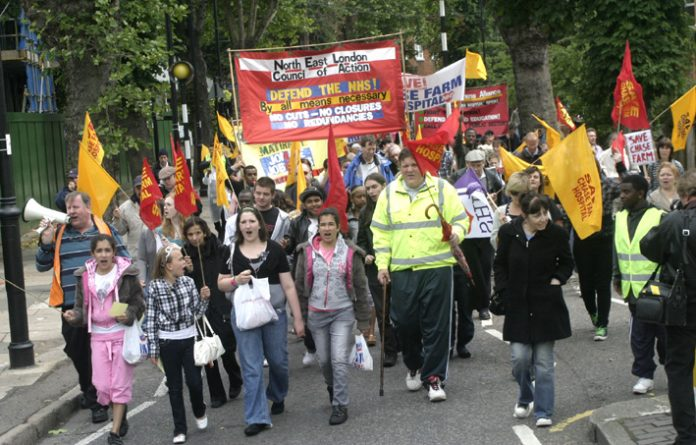 North East London Council of Action demonstration in Enfield last June demanding that Chase Farm Hospital be kept open