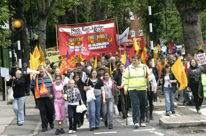 March in Enfield to stop the closure of Chase Farm Hospital