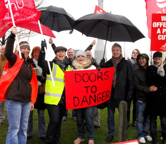 BA strikers confident of victory on the first day of their strike action on March 20th