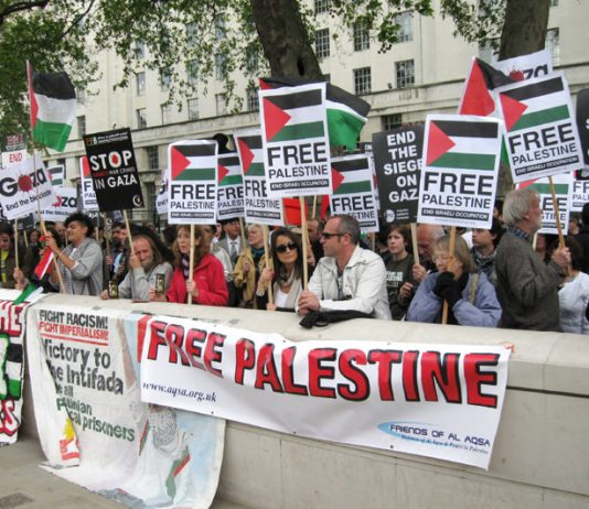 Demonstrators outside parliament commemorate the 60th anniversary of the 'Nakba' (catastrophe) and demand freedom for Palestine and the lifting of the siege of Gaza