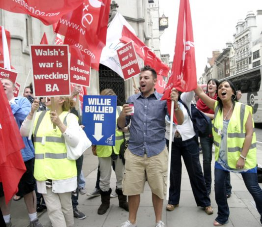 BA cabin crew greet with enthusiasm the Court of Appeal decision to overturn the ban on strike action