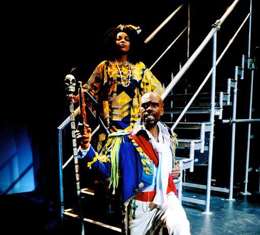 Cavin Cornwall stars as revolutionary hero Toussaint L'Ouverture, with Zama Precious Siphengana as Yamaya
