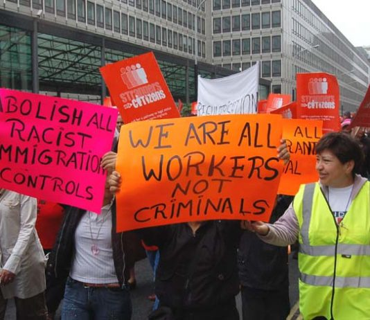 Marching for equal rights for all migrant workers in May 2007