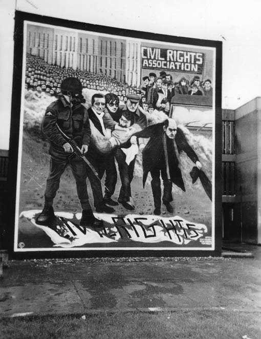 'Bloody Sunday' mural on a wall in Derry