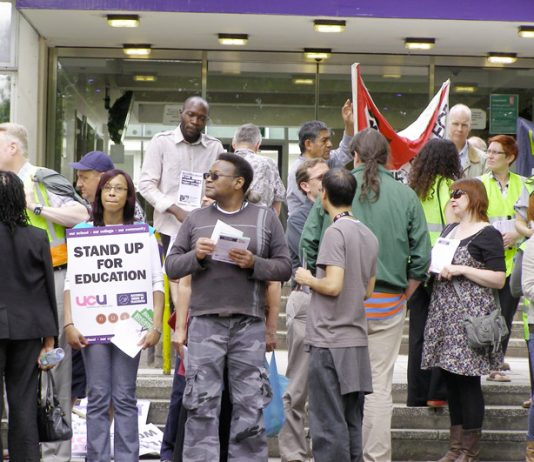 Lambeth College lecturers, students and supporters fighting vicious budget cuts