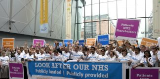 BMA delegates at last year's Annual Representative Meeting launching their 'Look After Our NHS' campaign