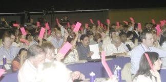 Delegates vote at the BMA Annual Representative Meeting in Brighton