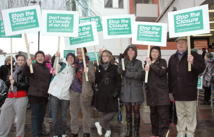 Demonstration to defend Whittington hospital against cuts and closure