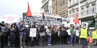 London demonstration in June last year against the slaughter of Tamils by the Sri Lankan army