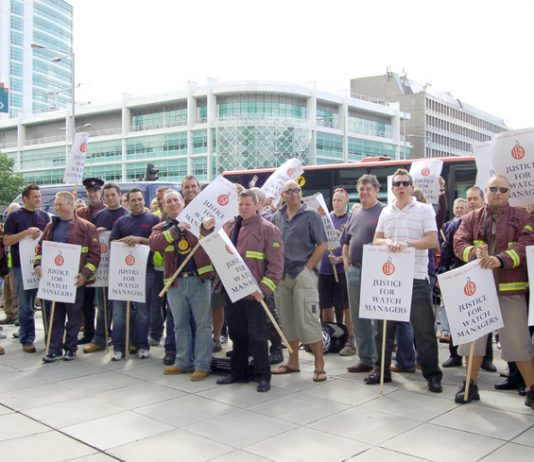 London FBU 'Justice for Watch Managers' lobby in July 2008