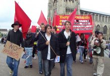 Young Socialists marching through Norwich in June last year demanding an end to fees and the restoration of grants