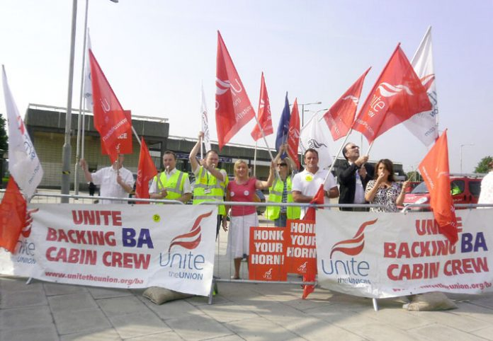 BA cabin crew fighting resolutely against another bosses' and government attack