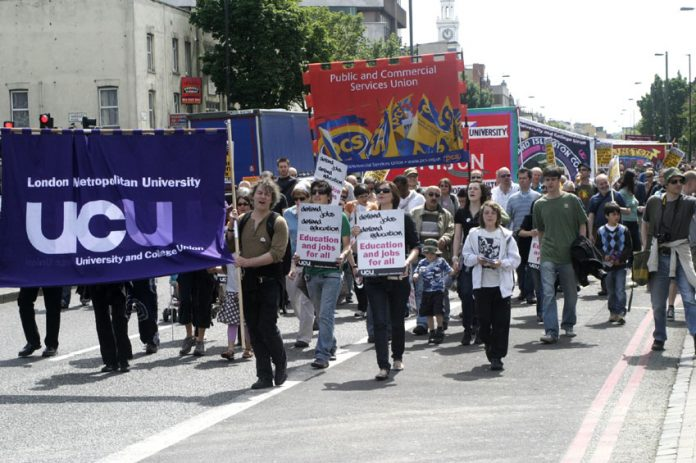 UCU lecturers and students were joined by other public sector unions to march against cuts at London Metropolitan University last year, it is now feared to face closure