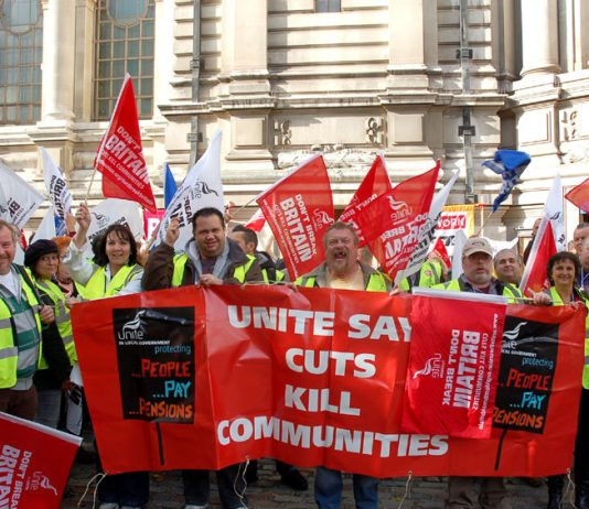 Unite members were at the lobby in force
