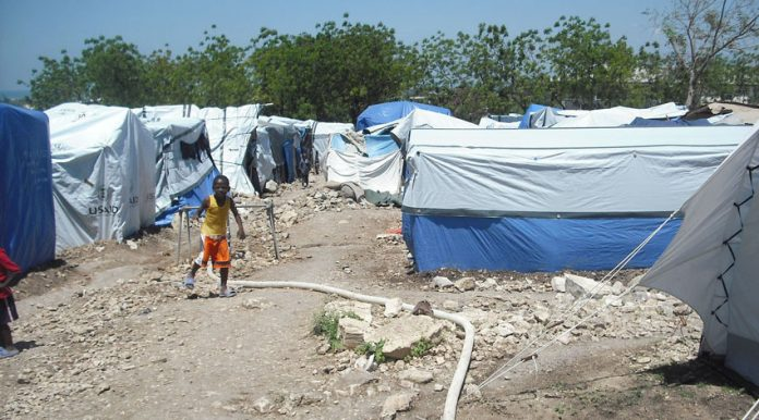 One of Haiti's tent cities which are the only shelter for over 300,000 people since the earthquake on January 13