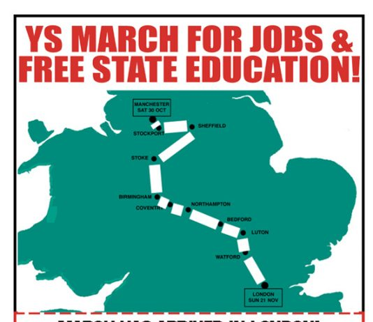 Ys March For Jobs & Free State Education