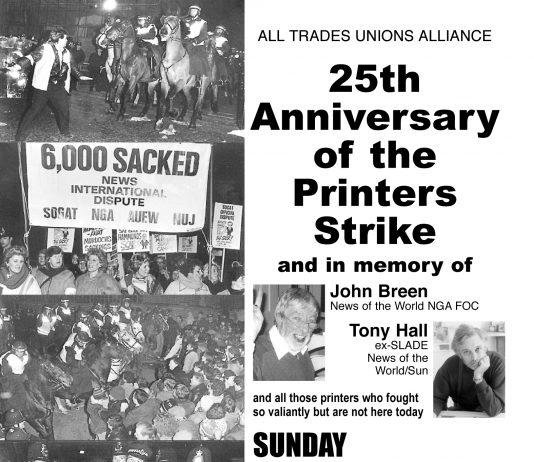 25th ANNIVERSARY OF PRINTERS STRIKE