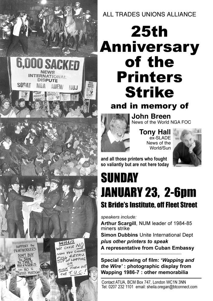 25 Years Since The Printers' Strike