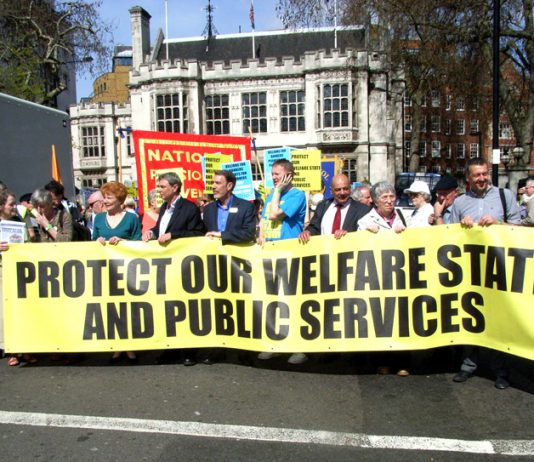 TUC march to defend the Welfare State in April last year