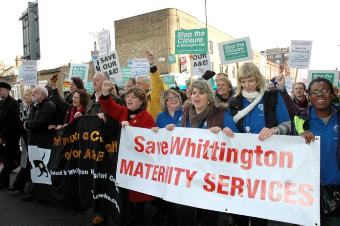 March in February last year to stop the closure of Whittington Hospital in north London