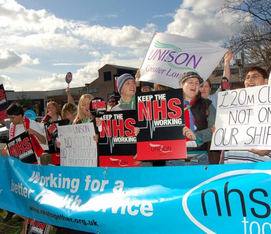 Unison protest against cuts at Kingston Hospital