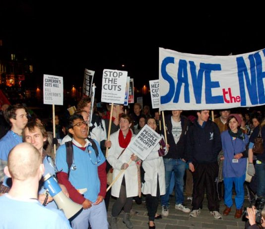 Junior doctors marched to 'Save the NHS' from the London Hospital to Bart's Hospital last week