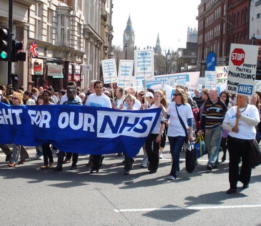BMA members determined to defend the NHS on a march to defend the Welfare State in April last year