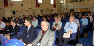 Delegates at yesterday's BMA Consultants Conference in London, where they voted to fight to defend pensions