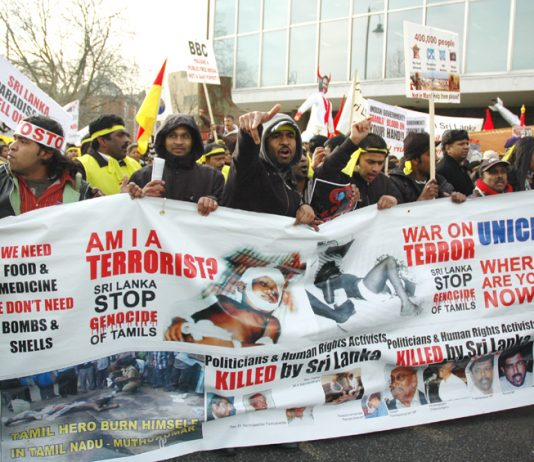 Tamil protestors filled London streets on January 31 2009