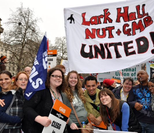 Teachers and school support staff united against the savage attacks on state education by the Tory-LibDem coalition government