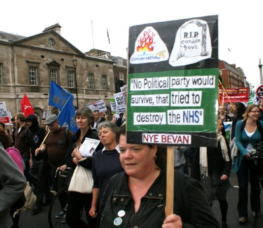 Over 4,000 marched through central London last week against the coalition's privatising Health and Social Care Bill
