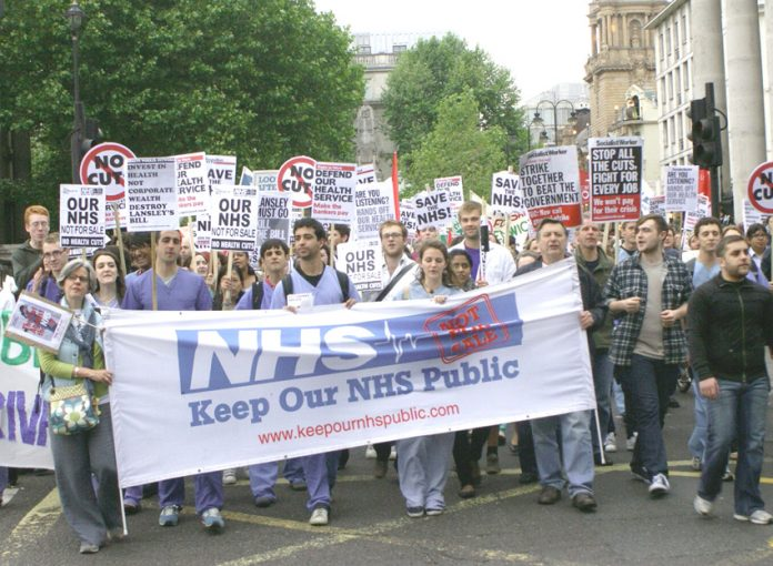 London trade unionists marched from UCH to Downing Street last week and showed their determinatipn to fight this government's savage cuts and privatisation