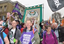 Public sector workers marching in the TUC demonstration on March 26 demanding that the trade unions take action to defend their jobs and to get wage increases matching the leaps in the cost of living