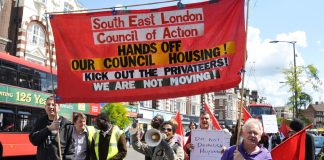 The front of Saturday's march which got a great deal of support all along its route