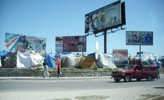 Haitians have been forced to sleep in makeshift tents or out in the open since the earthquake over a year ago