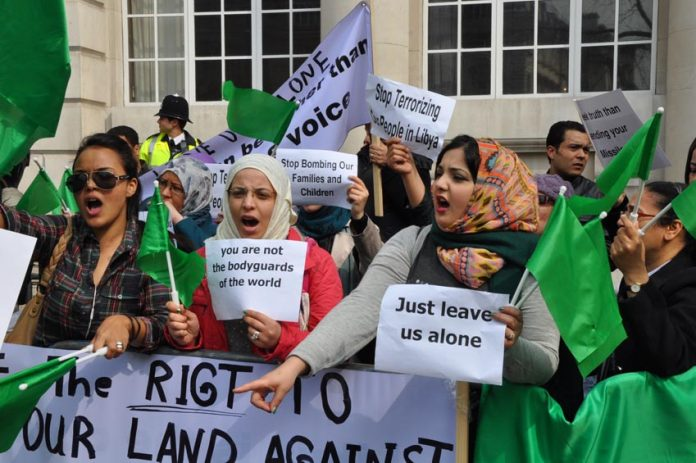 Defiant Libyan students and workers in London condemn the NATO imperialists