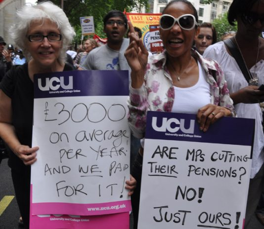 Teachers and civil servants took strike action on June 30 against the vicious pension cuts that the Tory-LibDem coalition is trying to force through