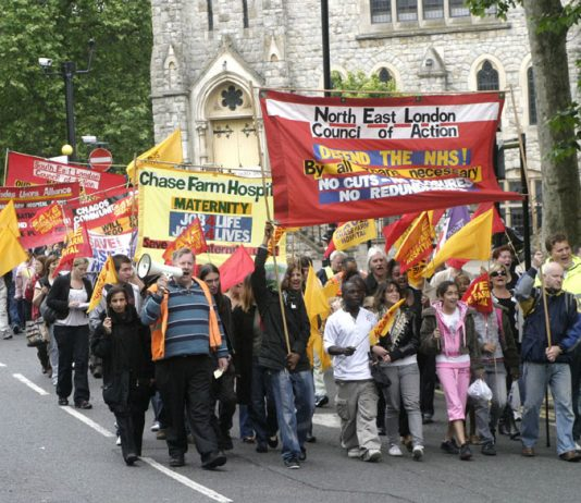 The North East London Council of Action has organised a large number of demonstrations and pickets to demand that Chase Farm Hospital remains open with all its departments functioning properly