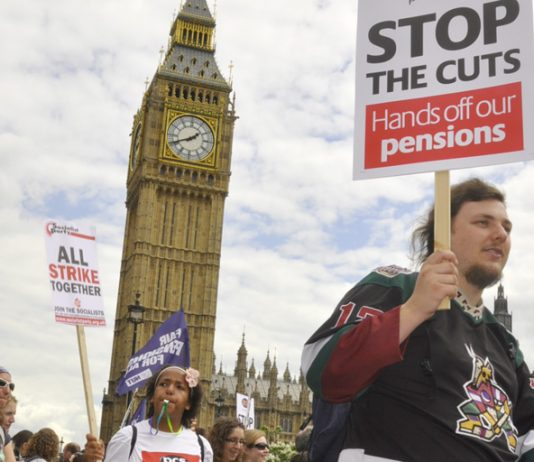 PCS and teaching union members staged coordinated strike action in defence of pensions in June