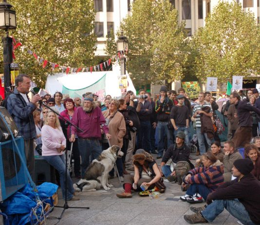 Crowds at the camp outside St Paul's, set up in the wake of the Occupy Wall Street movement