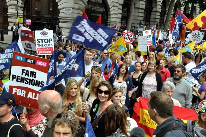 Teachers and lecturers trade unions marching on June 30 demanding fair pensions for all