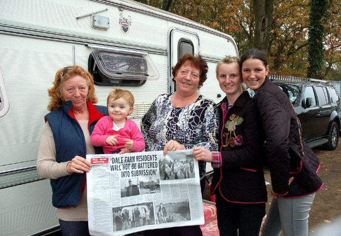 Despite vicious attacks by Tory Basildon Council, Dale Farm residents remain cheerful and united
