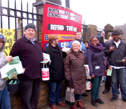 North East London Council of Action pickets determined to keep Chase Farm Hospital open