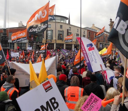 Massive turnout for the rally in central Sheffield yesterday