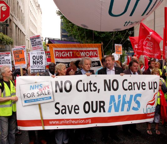 Health workers marching on the NHS anniversary demonstration were determined to prevent the privatisation of the NHS