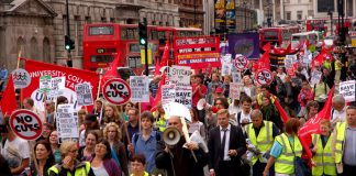 Health workers, trade unionists and youth marching to defend the NHS on its 63rd birthday in July this year demanded 'Scrap the Health Bill!'