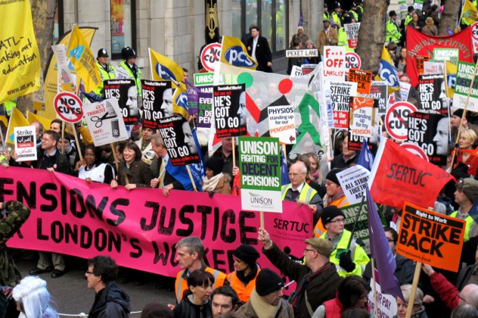 On November 30 over 2 million workers took strike action throughout the UK in defence of their pensions – the struggle is continuing